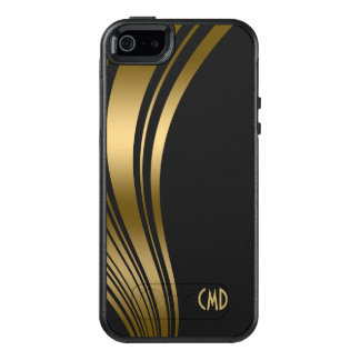 Gold Wavy Stripes OtterBox iPhone 5/5s/SE Case