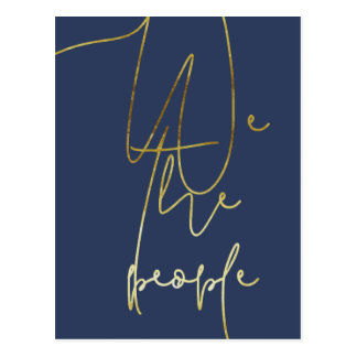 Gold We the people Postcard