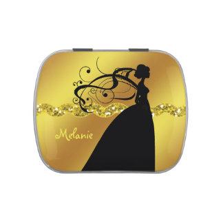 Gold Wedding Bride Candy Tin