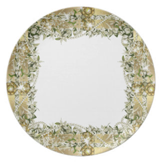 Gold wedding elegant dinnerware