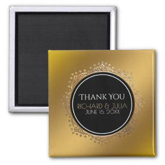 Gold Wedding Favor Thank You Boho Mandala Magnet