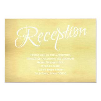 Gold Wedding Reception Info Card 9 Cm X 13 Cm Invitation Card