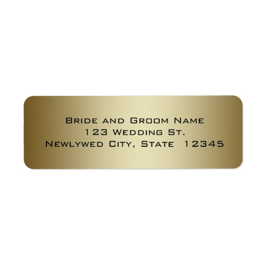 Gold Wedding Return Address Labels