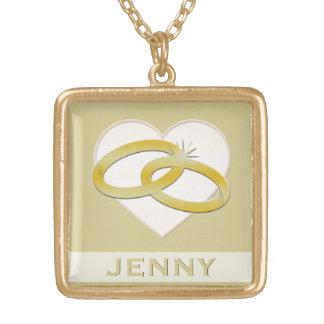 Gold Wedding Rings Heart Romantic Bridal Jewelry