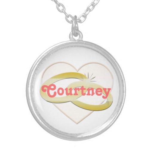 Gold Wedding Rings Heart Romantic Bridal Custom Necklace