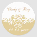 gold wedding stickers
