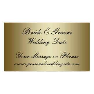 Gold Wedding Website Insert Card for Invitations Pack Of Standard Business Cards
