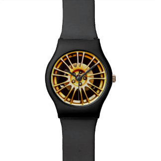 Gold wheel watch