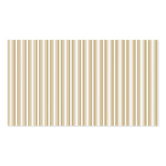 Gold & White Diagonal Christmas Candy Cane Stripes Business Card