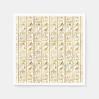 Gold & White Egyptian Egypt Glam Modern Chic Party Paper Napkin