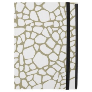Gold White Giraffe Print