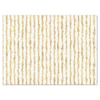 Gold White Glitz Stripes Tissue Paper