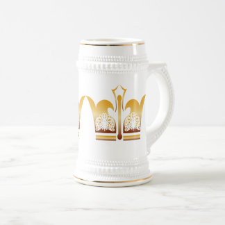 Gold White King Beer Stein