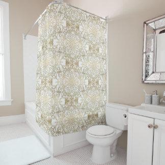 Gold & White Mandala Elegant Chic Modern Glam Shower Curtain