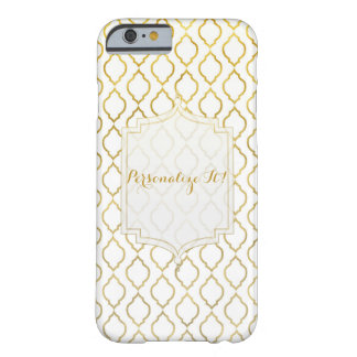 Gold & White Modern Glam Arabian Moroccan Design Barely There iPhone 6 Case