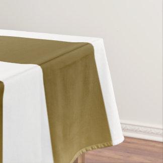 Gold & White Stripes Geometric Pattern Tablecloth