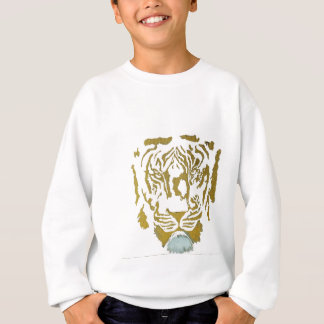 Gold/White Tiger Design Sweatshirt
