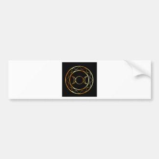 Gold Wiccan symbol Triple Goddess Bumper Sticker