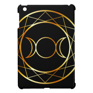 Gold Wiccan symbol Triple Goddess Cover For The iPad Mini
