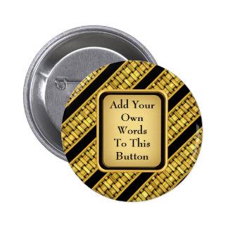 Gold Wicker Stripes Pin