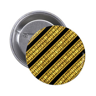 Gold Wicker Stripes Pinback Buttons