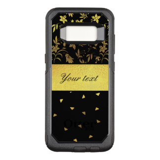 Gold Wildflowers and Scattered Triangles OtterBox Commuter Samsung Galaxy S8 Case