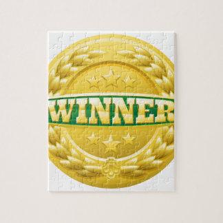 Gold Winner Laurel Wreath Medal Jigsaw Puzzle