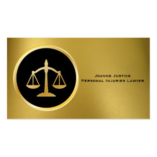 Gold with Scales of Justice Business Cards