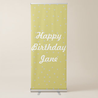Gold With Silver Stars Custom Retractable Banner