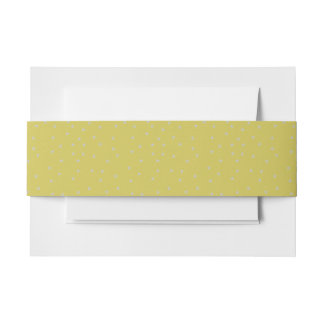 Gold With Silver Stars Invitation Belly Band