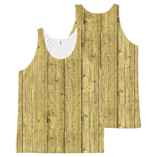 Gold Wood All-Over Print Singlet
