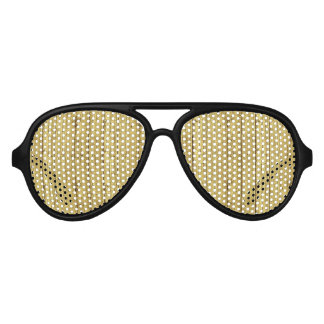 Gold Wood Aviator Sunglasses