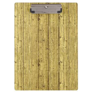 Gold Wood Clipboard