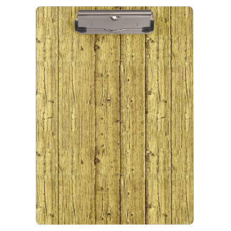 Gold Wood Clipboards