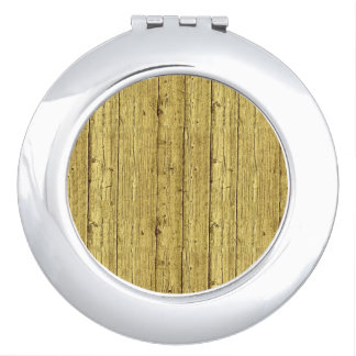 Gold Wood Compact Mirrors