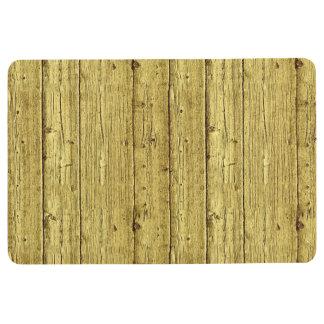 Gold Wood Floor Mat