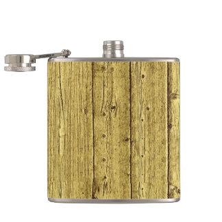 Gold Wood Hip Flask