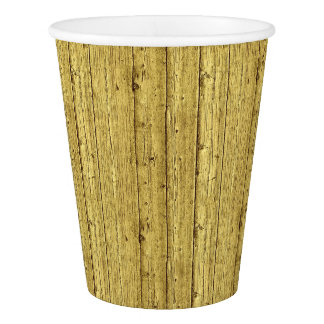 Gold Wood Paper Cup