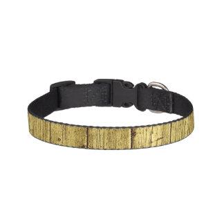 Gold Wood Pet Collar
