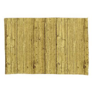 Gold Wood Pillowcase