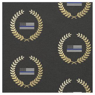 Gold Wreath Police Flag Fabric