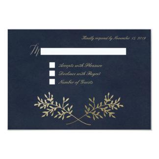 Gold wreath RSVP Cards