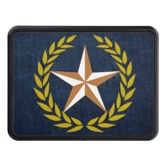 Gold Wreath Texas Copper Star Hitch Cover