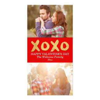 Gold XOXO | Valentine's Day Photo Cards