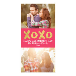Gold XOXO | Valentine's Day Photo Cards
