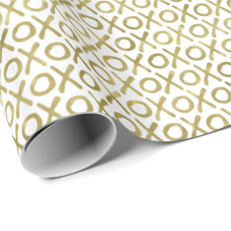 Gold XOXO Wrapping Paper
