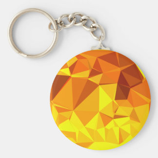 Gold Yellow Banana Abstract Low Polygon Background Key Ring