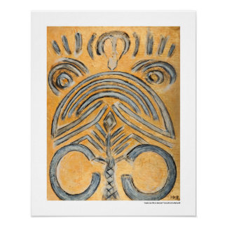 Gold Yellow Ethnic Abstract Decorative 16x20 Print