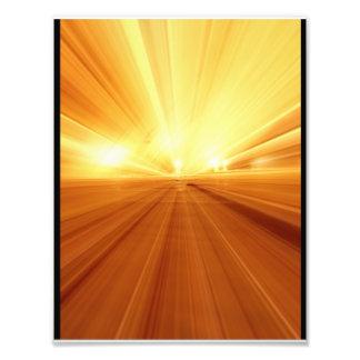 Gold Yellow Orange Abstract Zoom Blur Art Photo