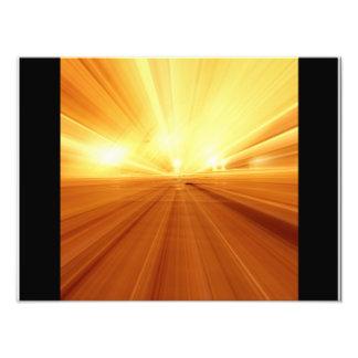 Gold Yellow Orange Abstract Zoom Blur Photo